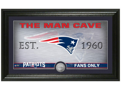 New England Patriots Highland Mint Man Cave Panoramic Bronze Coin Photo Mint