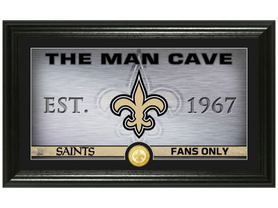 New Orleans Saints Highland Mint Man Cave Panoramic Bronze Coin Photo Mint