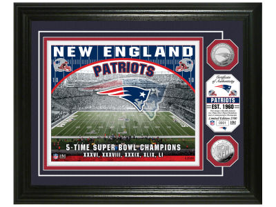 "New England Patriots Highland Mint ""Stadium"" Bronze Coin Photo Mint"