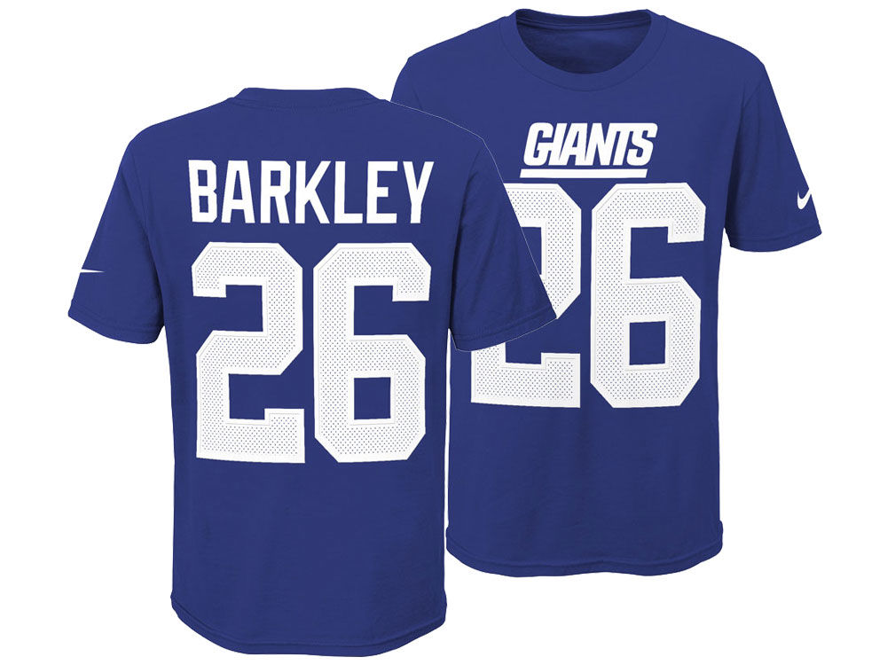 New York Giants Saquon Barkley Nike NFL Youth Pride Name and Number 3.0 T- Shirt  a5ae1017d