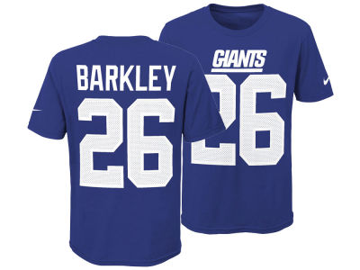 New York Giants Saquon Barkley Nike NFL Youth Pride Name and Number 3.0 T-Shirt