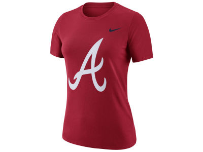 Atlanta Braves Nike MLB Women's Cotton Crew Logo T-Shirt