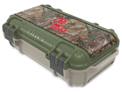 Ole Miss Rebels OtterBox Tan/RealTree Drybox Case