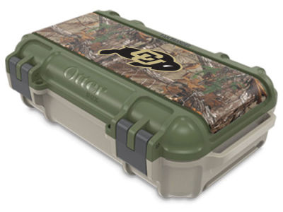 Colorado Buffaloes OtterBox Tan/RealTree Drybox Case