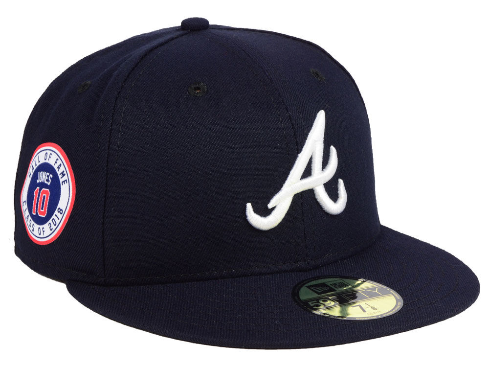 56c4e626124 Atlanta Braves New Era MLB Authentic Collection Hall of Fame Sidepatch 59FIFTY  Cap