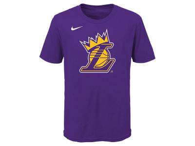 Los Angeles Lakers Lebron James Nike NBA Youth Kings Crown T-Shirt