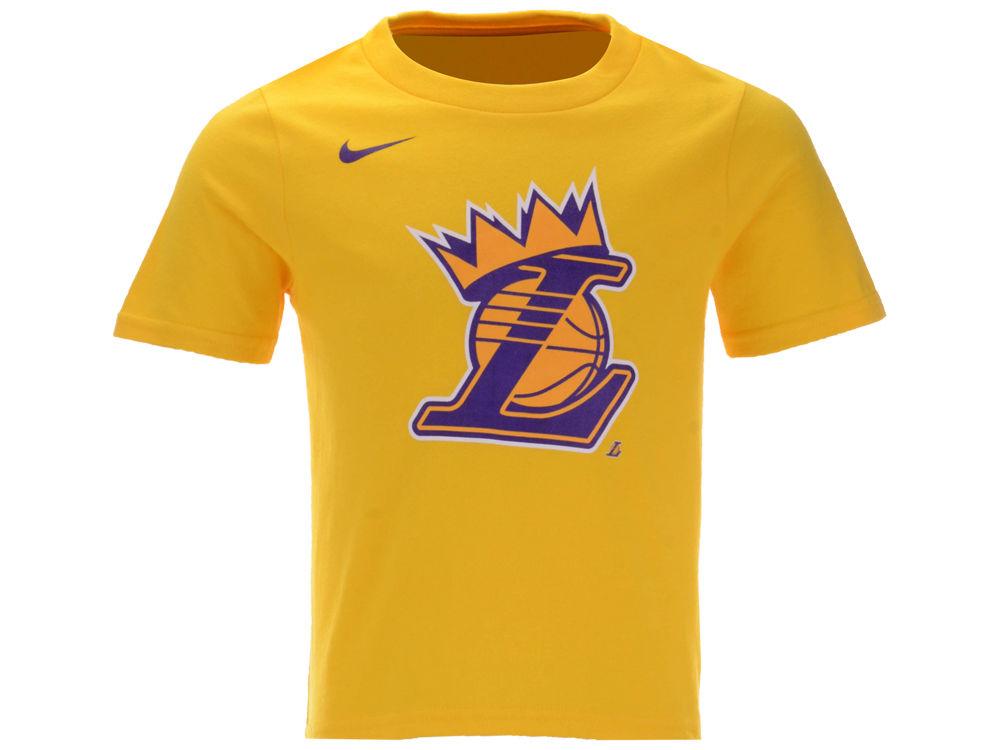 8032d41c6 Los Angeles Lakers Lebron James Nike NBA Toddler Kings Crown T-Shirt ...