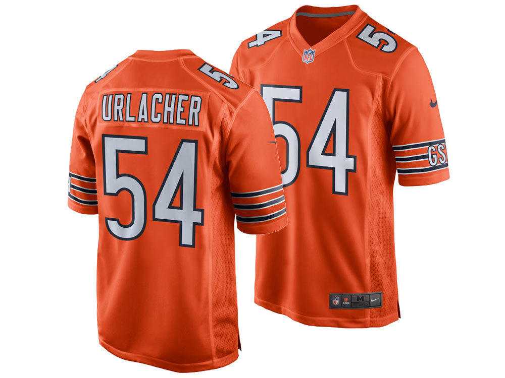 62977cd4a Chicago Bears Brian Urlacher Nike NFL Retired Game Jersey