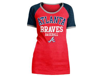 Atlanta Braves 5th & Ocean MLB Women's Crew Colorblock T-shirt