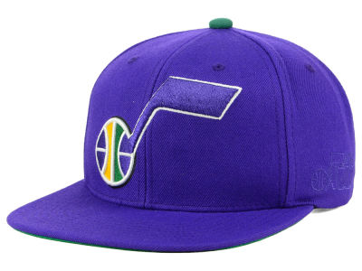New Orleans Jazz Mitchell & Ness NBA Hardwood Classic First Letter Snapback Cap