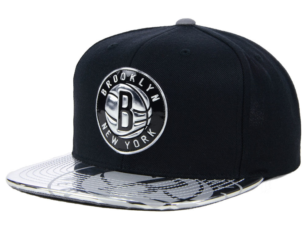 887506f6951 Brooklyn Nets Mitchell   Ness NBA Standard Snapback Cap