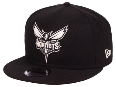 Charlotte Hornets New Era NBA Black White 9FIFTY Snapback Cap