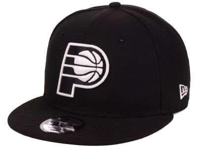Indiana Pacers New Era NBA Black White 9FIFTY Snapback Cap