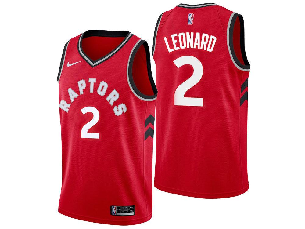 Toronto Raptors Kawhi Leonard Nike NBA Men s Icon Swingman Jersey ... 420bda68b