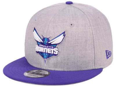 Charlotte Hornets New Era NBA Heather Gray 9FIFTY Snapback Cap