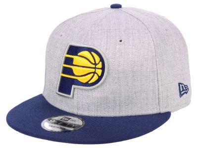 Indiana Pacers New Era NBA Heather Gray 9FIFTY Snapback Cap