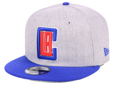 Los Angeles Clippers New Era NBA Heather Gray 9FIFTY Snapback Cap