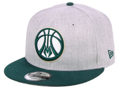 Milwaukee Bucks New Era NBA Heather Gray 9FIFTY Snapback Cap