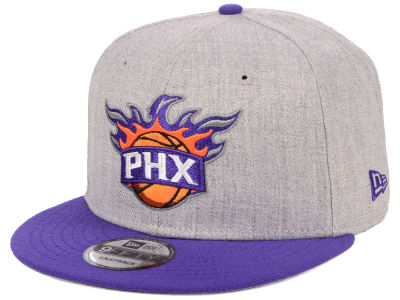 Phoenix Suns New Era NBA Heather Gray 9FIFTY Snapback Cap