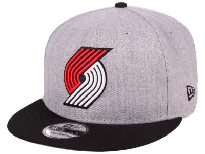 Portland Trail Blazers New Era NBA Heather Gray 9FIFTY Snapback Cap