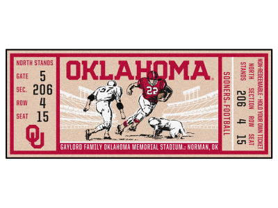 Oklahoma Sooners Fan Mats Ticket Runner Floor Mat