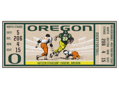 Oregon Ducks Fan Mats Ticket Runner Floor Mat