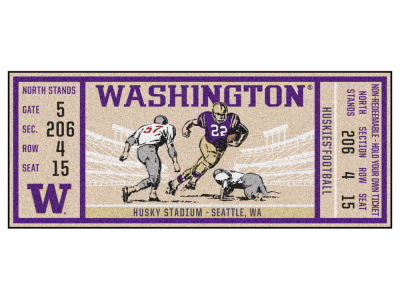 Washington Huskies Fan Mats Ticket Runner Floor Mat