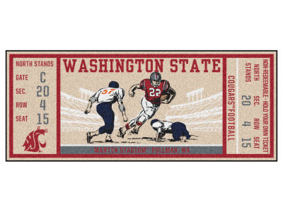 Washington State Cougars Fan Mats Ticket Runner Floor Mat