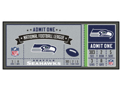 Seattle Seahawks Fan Mats Ticket Runner Floor Mat