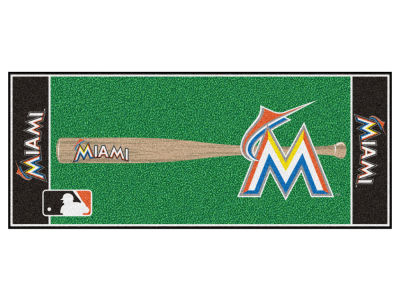 Miami Marlins Fan Mats Baseball Runner Floor Mat