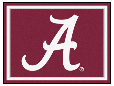 Alabama Crimson Tide Fan Mats 8x10 Area Rug