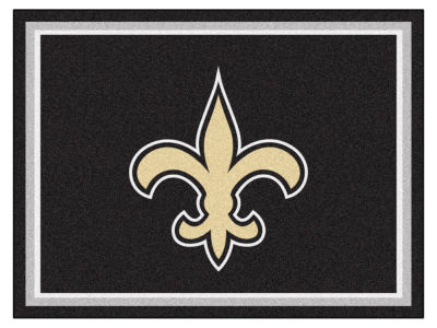New Orleans Saints Fan Mats 8x10 Area Rug