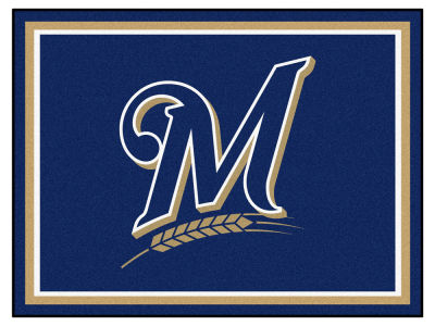 Milwaukee Brewers Fan Mats 8x10 Area Rug