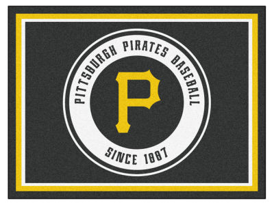 Pittsburgh Pirates Fan Mats 8x10 Area Rug