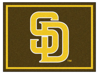 San Diego Padres Fan Mats 8x10 Area Rug