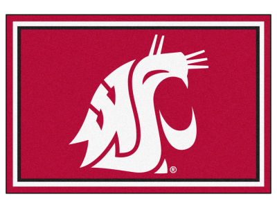 Washington State Cougars Fan Mats 5x8 Area Rug