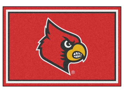 Louisville Cardinals Fan Mats 5x8 Area Rug