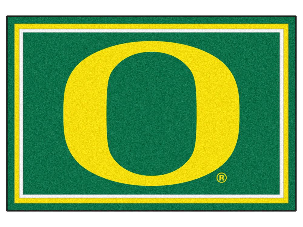 Oregon Ducks Fan Mats 5x8 Area Rug Lids