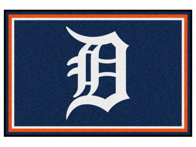 Detroit Tigers Fan Mats 5x8 Area Rug