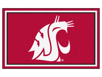 Washington State Cougars Fan Mats 4x6 Area Rug