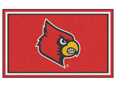 Louisville Cardinals Fan Mats 4x6 Area Rug