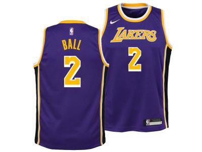 Los Angeles Lakers Lonzo Ball Nike NBA Youth Statement Swingman Jersey 3c4047d82