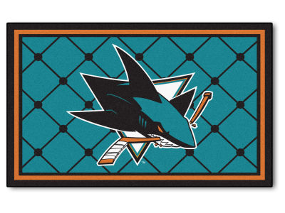 San Jose Sharks Fan Mats 4x6 Area Rug