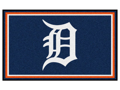 Detroit Tigers Fan Mats 4x6 Area Rug