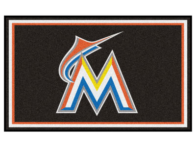 Miami Marlins Fan Mats 4x6 Area Rug
