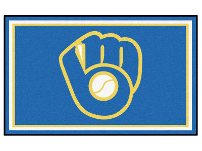 Milwaukee Brewers Fan Mats 4x6 Area Rug