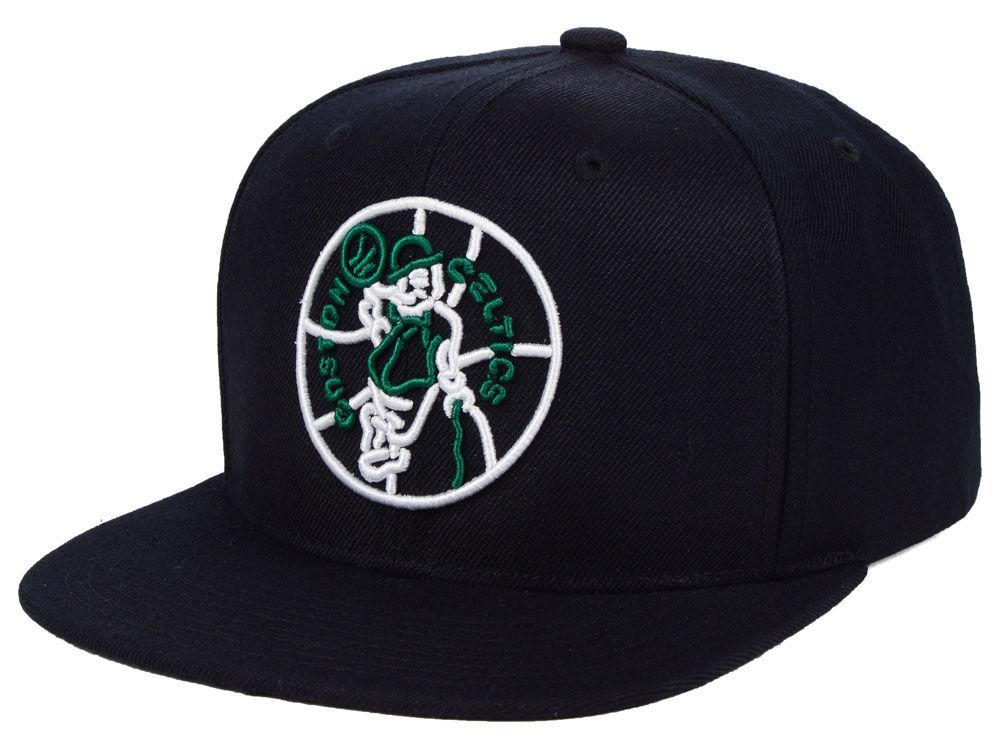 Boston Celtics Mitchell   Ness NBA Team Color Neon Snapback Cap ... f1ce9f41a3d1