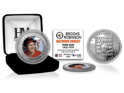 Baltimore Orioles Brooks Robinson Highland Mint MLB Baseball Hall of Fame Silver Color Coin