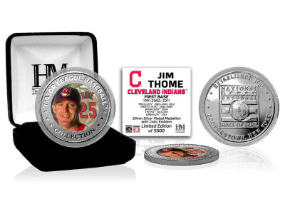 Cleveland Indians Jim Thome Highland Mint MLB Baseball Hall of Fame Silver Color Coin
