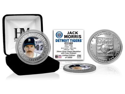 Detroit Tigers Jack Morris Highland Mint MLB Baseball Hall of Fame Silver Color Coin
